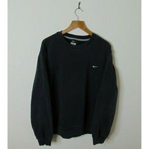 Vintage Nike Xl Pullover Crewneck Sweatshirt Black
